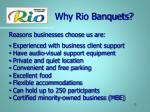 why rio banquets