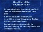 condition of the church in rome