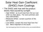 solar heat gain coefficient shgc from coatings