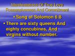 manifestations of true love possessiveness and commitment