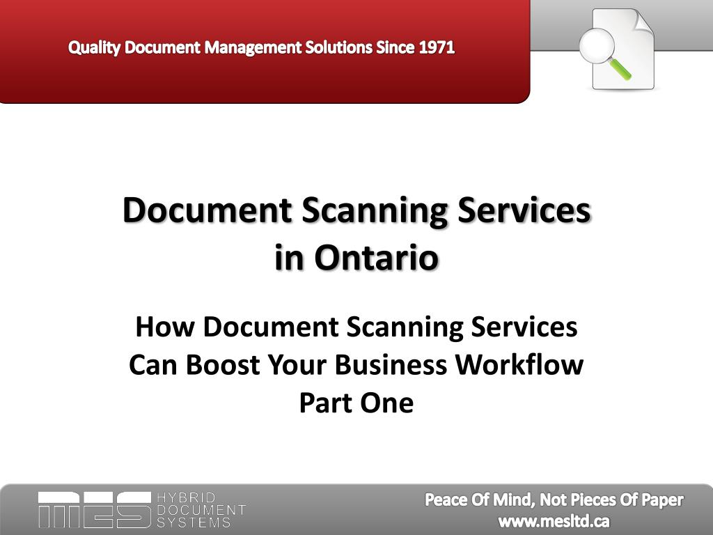 document scanning services in ontario l.