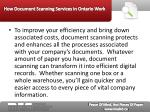 how document scanning services in ontario work