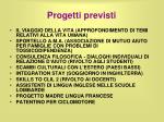 progetti previsti