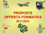 proposte offerta formativa