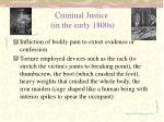 criminal justice in the early 1800s