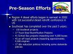 pre season efforts
