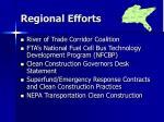 regional efforts