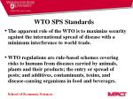 wto sps standards
