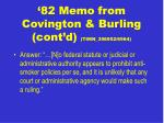 82 memo from covington burling cont d timn 356952 6964