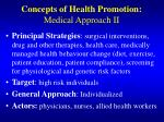 concepts of health promotion medical approach ii
