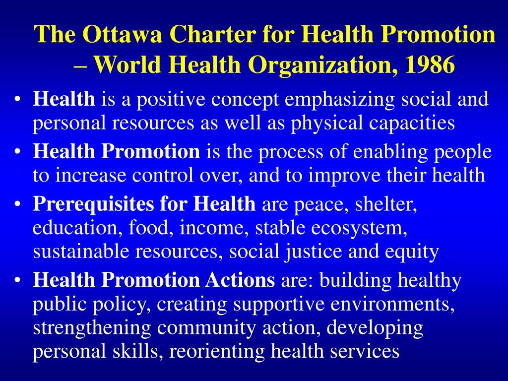 the ottawa charter and health promotion