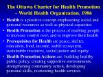 the ottawa charter for health promotion world health organization 1986