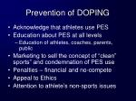 prevention of doping