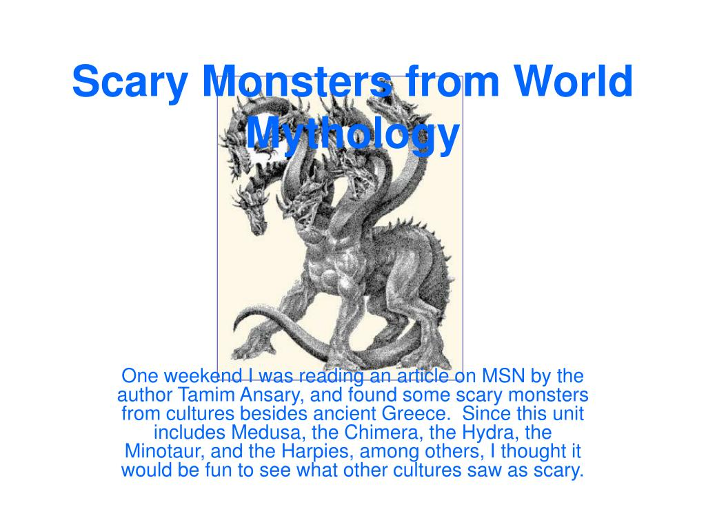 scary monsters from world mythology l.