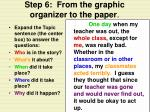 step 6 from the graphic organizer to the paper13