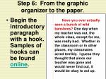 step 6 from the graphic organizer to the paper14