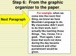 step 6 from the graphic organizer to the paper16
