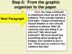 step 6 from the graphic organizer to the paper18
