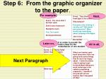 step 6 from the graphic organizer to the paper21