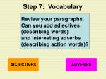 step 7 vocabulary