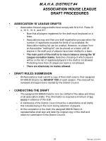 association house league draft procedures