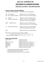 division classifications definitions and rules 2008 2009 season