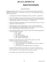 game scoresheets