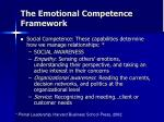 the emotional competence framework6