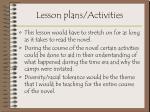 lesson plans activities