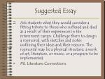 suggested essay