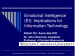 emotional intelligence ei implications for information technology