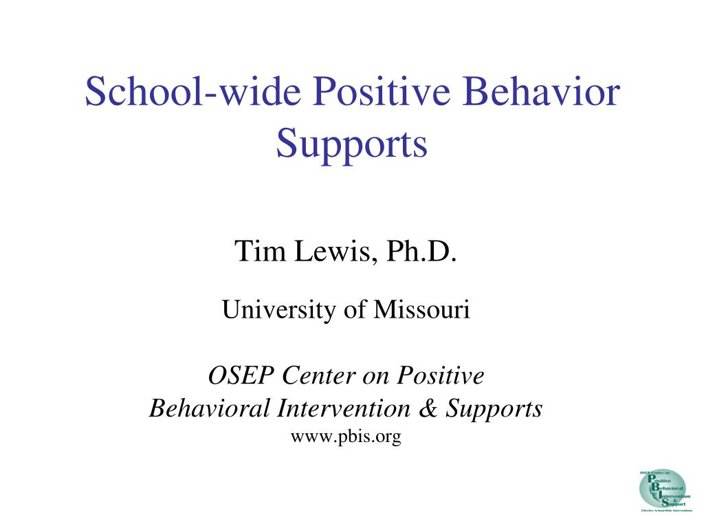 school wide positive behavior supports l.
