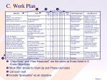 c work plan