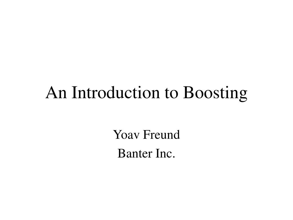 an introduction to boosting l.