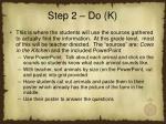 step 2 do k