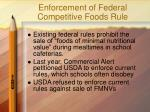 enforcement of federal competitive foods rule