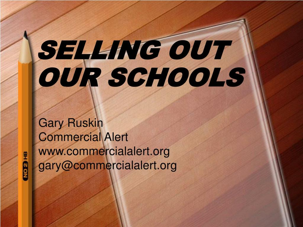 selling out our schools l.