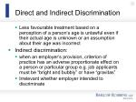 direct and indirect discrimination64
