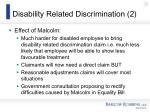 disability related discrimination 2