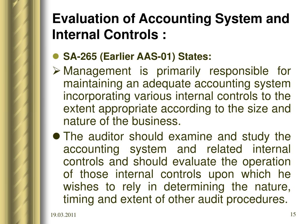internal control and accounting system Accounting information systems and internal control provides comprehensive approaches to the design and evaluation of internal control systems.