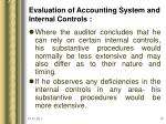 evaluation of accounting system and internal controls16