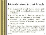 internal controls in bank branch21