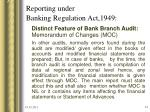 reporting under banking regulation act 194934