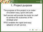 1 project purpose