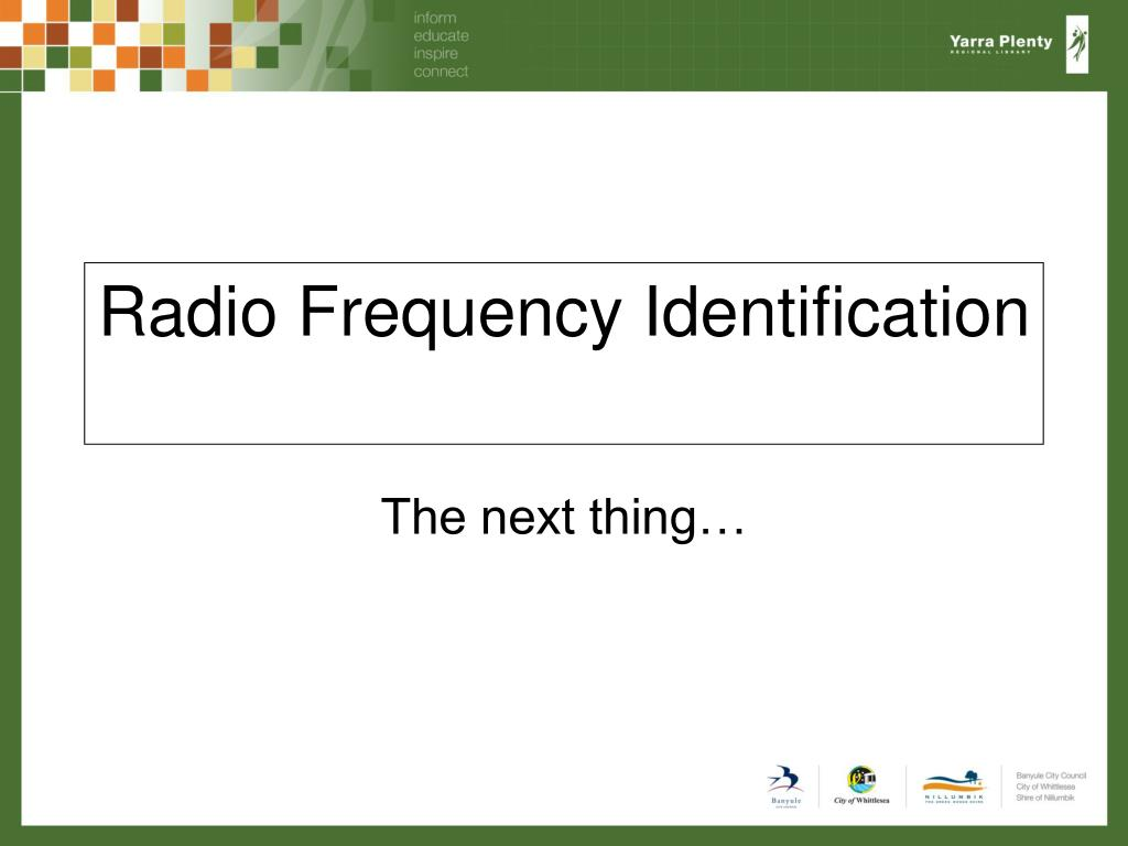 radio frequency identification l.
