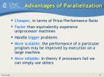 advantages of parallelization