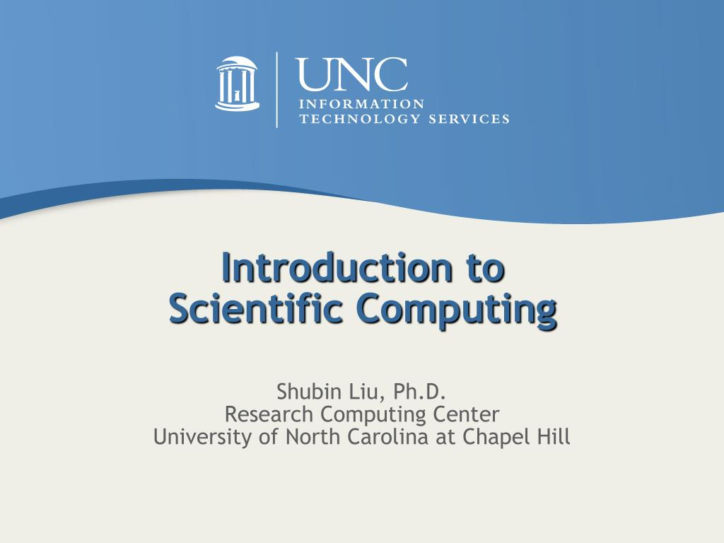 introduction to scientific computing l.