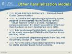 other parallelization models