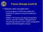 focus groups cont d11