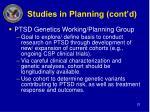 studies in planning cont d
